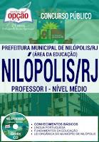 Apostila Prefeitura de Nilópolis PROFESSOR I NÍVEL MÉDIO