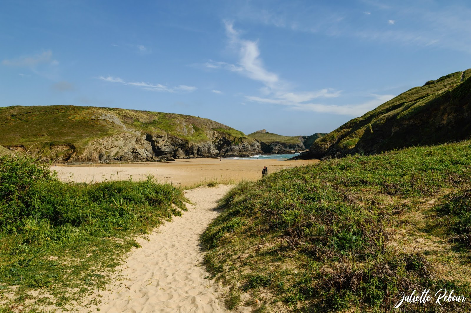 Plage d'Herlin en Bretagne, à Belle Ile en mer