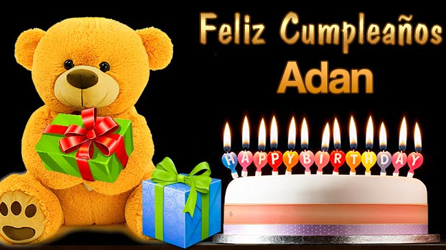 Feliz Cumpleaños Adan