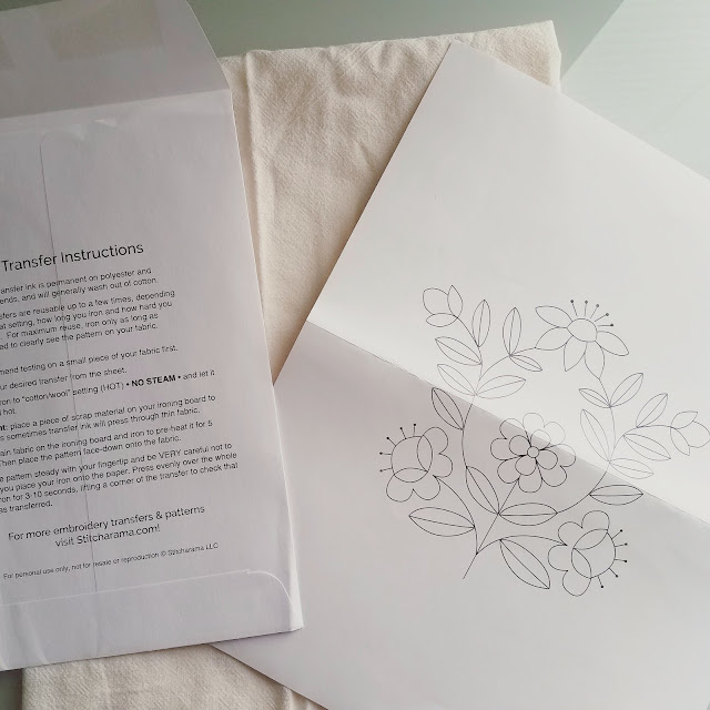 Stitcharama embroidery transfer review by floresita on Feeling Stitchy