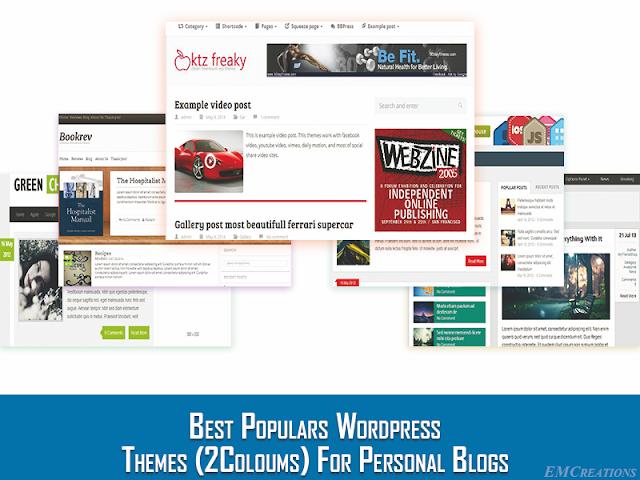 Tema Wordpress 2 Kolom Gratis Terbaik Untuk Blog Personal