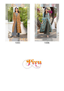 Sawan Creation piyu vol 3 Party wear kurtis