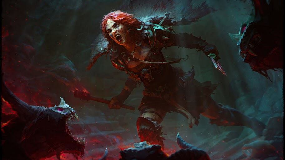 Diablo 4, Barbarian, Female, 4K, #7.1023