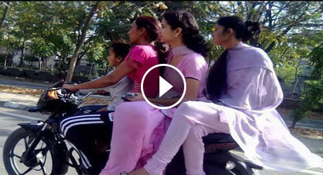 Girls on bike in india