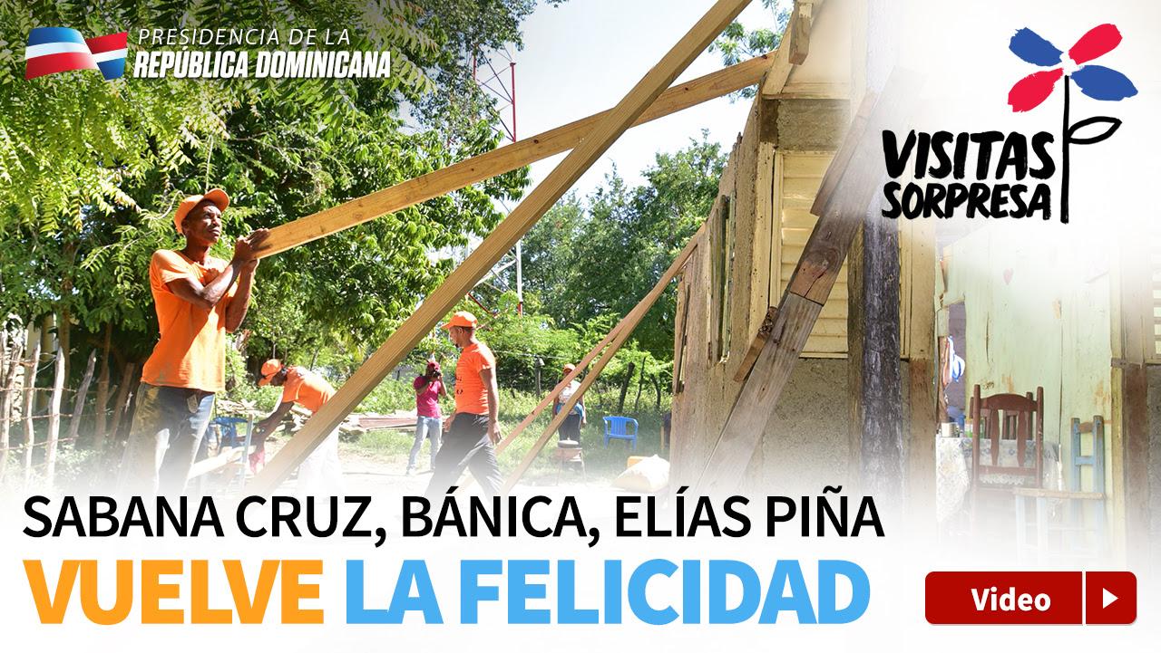 VIDEO: Danilo nos está devolviendo la felicidad. Elías Piña recibe apoyo del Plan Social