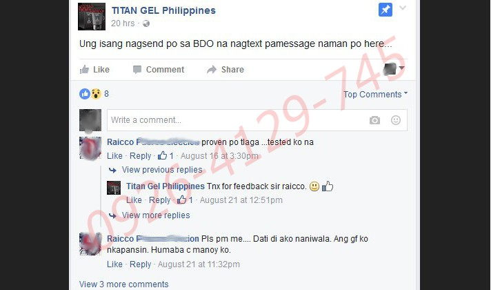 titan gel pilippines buyers testimonies and real stories