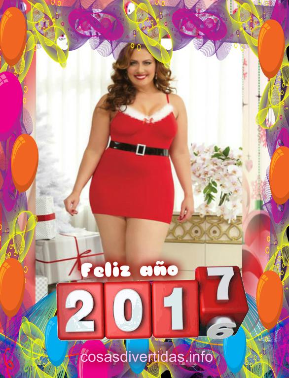 Feliz año nuevo con fotos de chicas gordas