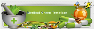 banner header medical green