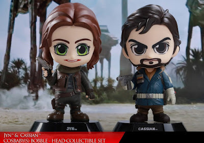 Star Wars: Rogue One Jyn Erso & Captain Cassian Andor Cosbaby Mini Figure Set by Hot Toys