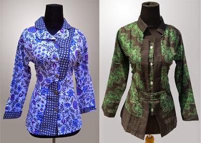 Gambar Model Baju Batik Seragam Kerja Terbaru