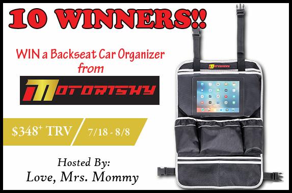 Motorishy Backseat Car Organizer Giveaway! 8/8 @Motorishy