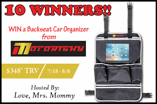 Backseat Car Organizer US Giveaway! 10 Winners! • UbosOras.com