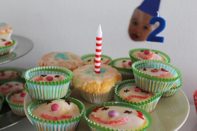 Kindergeburtstag Zirkus Mottoparty Clown Muffins
