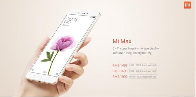 Xiaomi Akhirnya Merilis Mi Max dengan Harga Rp 3 Juta