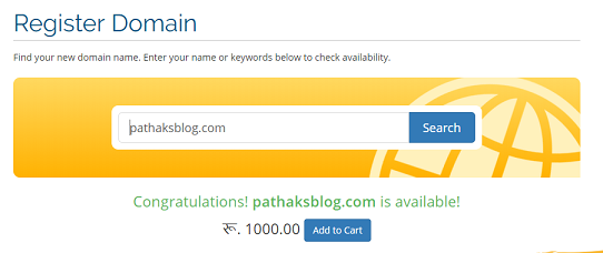 cheapest domain registration at Nrs 1000