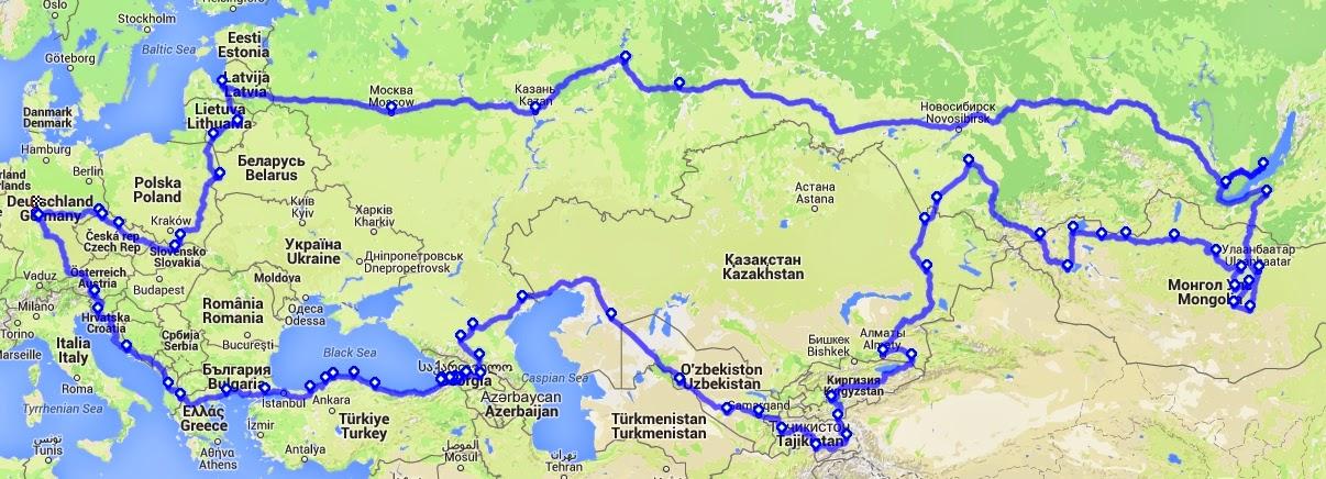 Mit dem Gecko unterwegs: Routen 2015 / 2016 (Seidenstraße / Pyrenäen)
