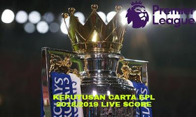 Keputusan EPL 2018/2019 Liga Perdana Inggeris (Live Score)