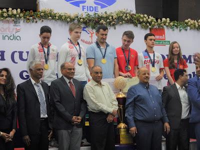 World U16 Teams Russia Gold, India Silver, Iran Bronze.