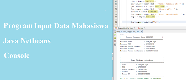 Contoh Program Java Input Data Mahasiswa