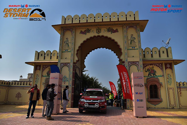 """So one of the much awaited Motorsport event of India, Maruti Suzuki Desert Storm, started a few days back. To be precise, Maruti Suzuki Desert Storm was flagged off from Great Mall of India Noida on 29th January. After proper scrutiny, 200+ participants started the journey. The very first leg of the Maruti Suzuki Desert Storm started from Hanumangarh, Rajve Palace Hotel on 30th Jan. Participants covered interesting terrains of 255km (transportation + 3 Special Stages) in the outskirts  of hanumangarh before they headed towards Bikaner for Leg-2. Ace drivers like Suresh Rana (who is 10 time RDH winner), Sandeep Sharma, Bani Yadav, Amanpreet are participating in the X-treme category. Winner of National Rally Championship (check the full name on website) Karthick Maruthi is also participating in Maruti Suzuki Desert Storm. Apart from him, Jagmeet Gill is also there and both of them are driving Vitara Brezza. After Dakar Rally, CS Santosh is participating in #MSDesertStorm.The rally will continue till 4th of Feb and lot of motorsport action is expected like always. IF you don't know much about Maruti Suzuki Desert Storm, do check out following. That's how officials have shared about the same -""""Since the year 1998, Maruti Suzuki Motorsports has been fuelling the adrenaline of adventurous rally drivers and has been promoting motorsports in India for 18 years. The Maruti Suzuki Desert Storm Rally this year, saw record-breaking participation, bringing together more than 200 rally enthusiasts from India and abroad. This also included the highest number of female participants (13 participants including three all-women teams) in a rally in India. The seven-day extreme event covered a distance of 2,100 km from the National Capital Region to Jodhpur, and was divided into four categories — XTreme, NDure, XPlore and Moto — enabling enthusiasts to use vehicles of their choice, suitable to the corresponding terrain and format.""""Stay tuned for more detailed posts on upcoming days."""