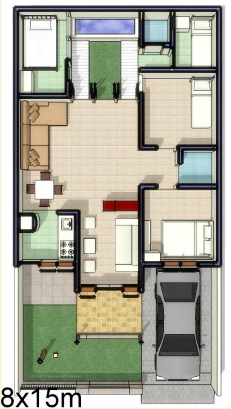 Denah Rumah Minimalis 7x12 Desain Rumah Minimalis
