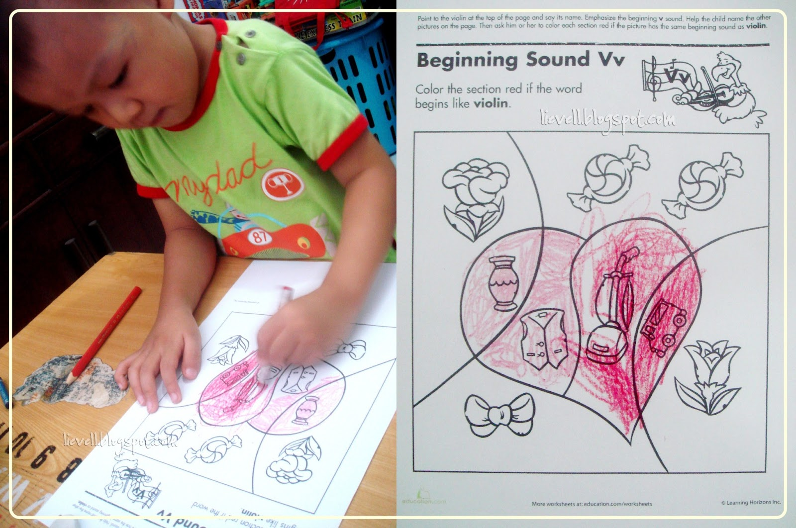 Preschool Letter V And Valentine