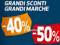 Logo Sconti 40, 50% Grandi Marche : IperCoop e Supermercati Coop Alleanza 3.0
