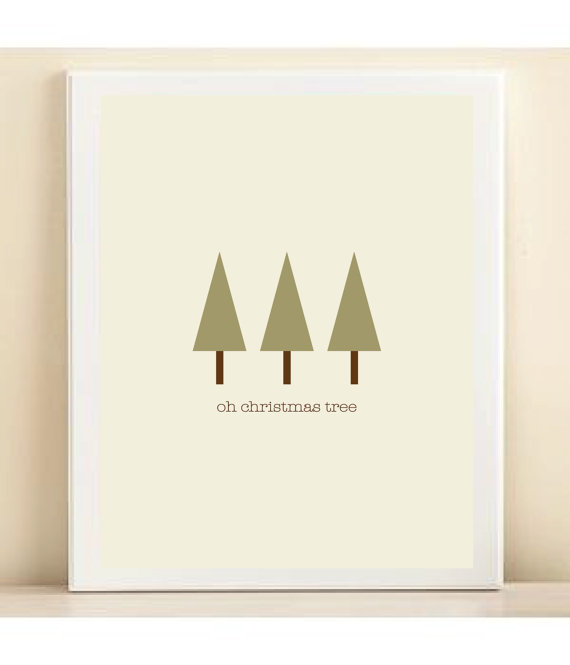 The Song Oh Christmas Tree: 25 Inspirational Christmas Poster Designs