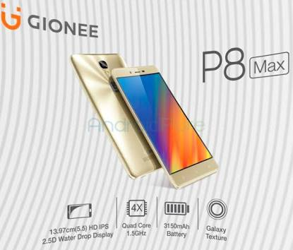 Gionee P8 Max Smartphone Specifications And Price