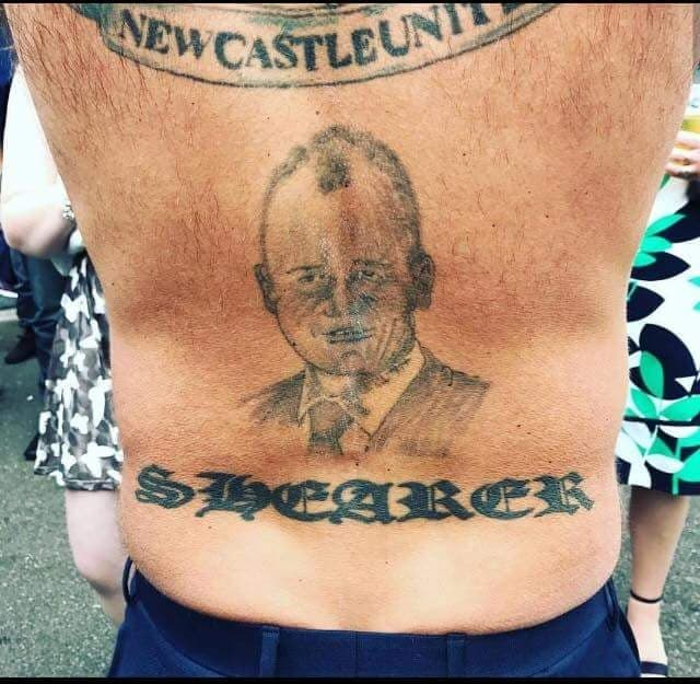 Is this the worst Alan Shearer tribute tattoo ever?