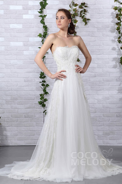 The main trailing within the wedding dress is critical