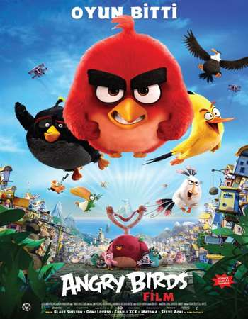 Poster Of Angry Birds 2016 Dual Audio 300MB BRRip 480p ESubs Free Download Watch Online Worldfree4u