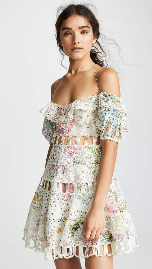 Zimmermann Heathers Off Shoulder Dress