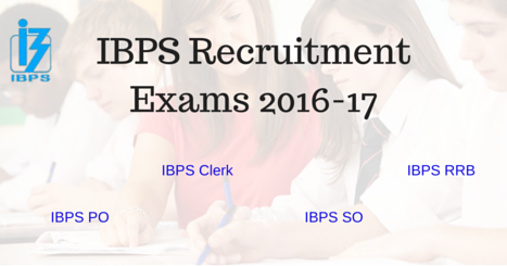 IBPS Banking Recruitment Exams 2016-17 (Government Jobs)