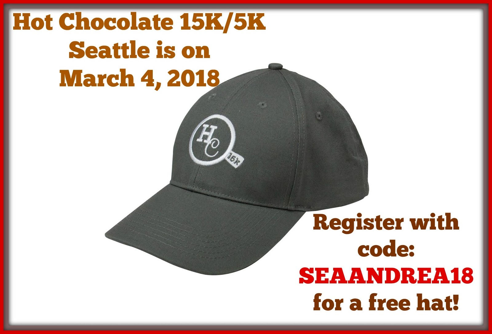 Hot Chocolate 15K and 5K Seattle Coupon Code for 2018 ~ Born and ...