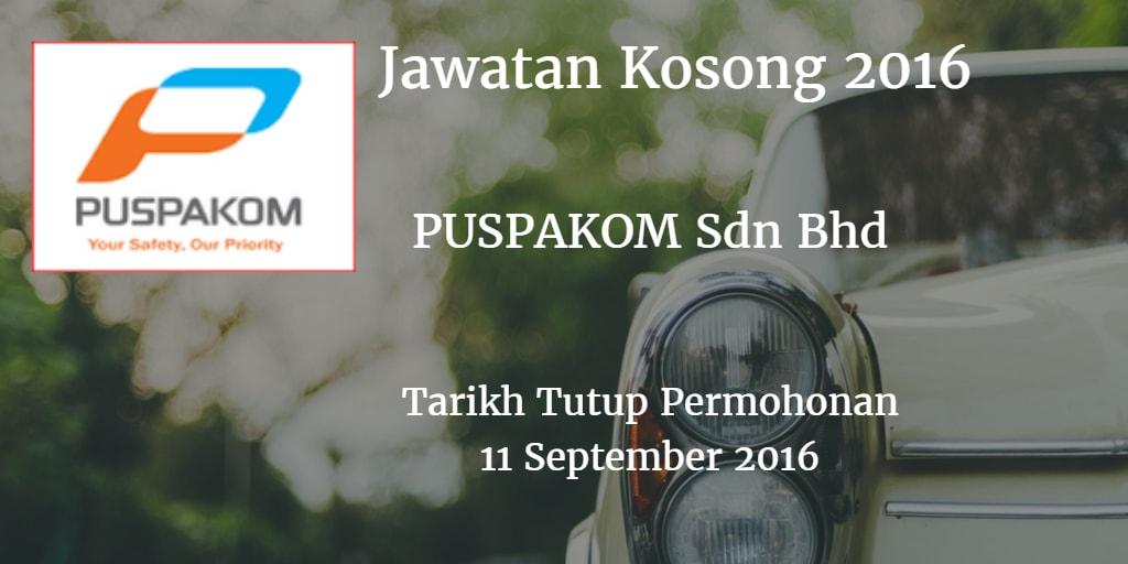 Jawatan Kosong PUSPAKOM Sdn Bhd  11 September 2016