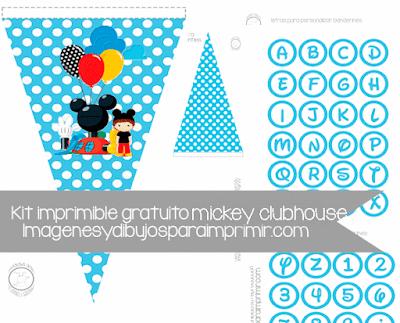 banderines mickey clubhouse y letras para imprimir