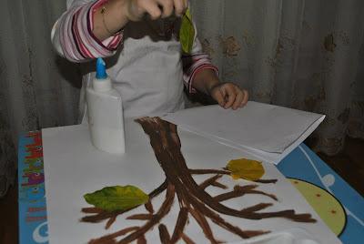 copacel de toamna, activitate pentru copii