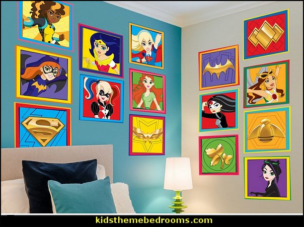 Superheroes Bedroom Ideas   Batman   Spiderman   Superman Decor   Captain  America   Comic Book · DC Super Hero Girls Character Wall Decals Part 68