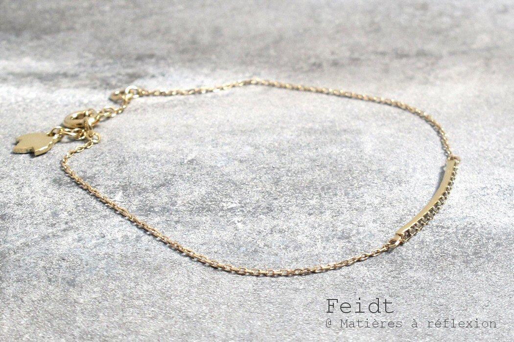 Feidt bracelet or jaune