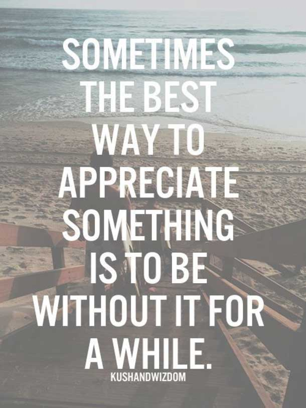 the best way to appreciate something life quotes tumblr