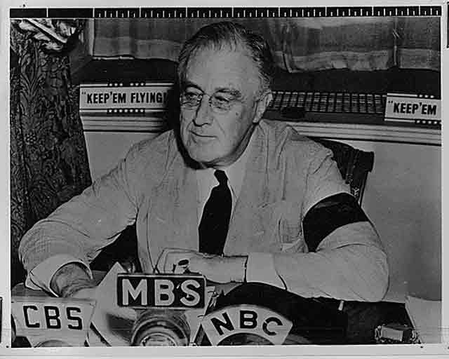 FDR giving a radio speech, 11 September 1941 worldwartwo.filminspector.com