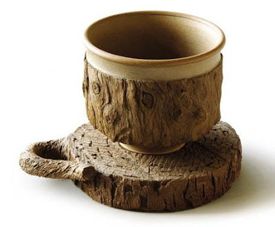 Log Cup and Saucer