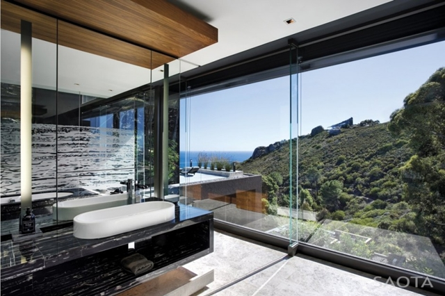 Photo of the view from the bath room