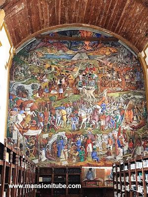 Mural de Juan O'Gorman en Pátzcuaro
