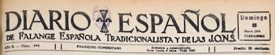 Cabecera del Diario Español en 1944