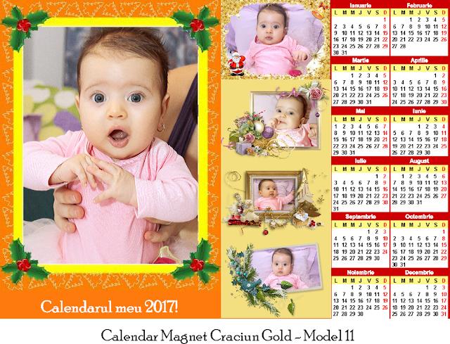 calendar magnetic Craciun GOLD