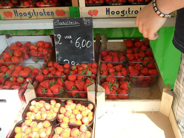 markt aardbeien