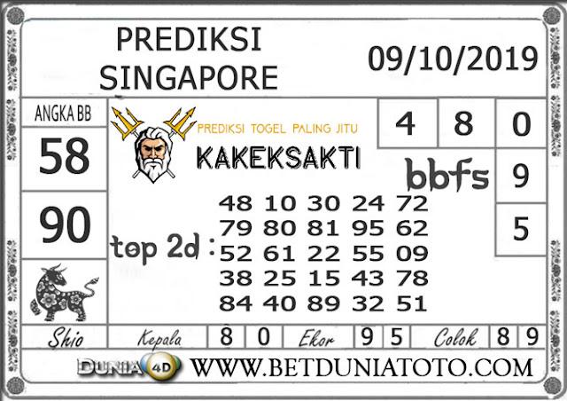 """Prediksi Togel """"SINGAPORE"""" DUNIA4D 09 OKTOBER 2019"""