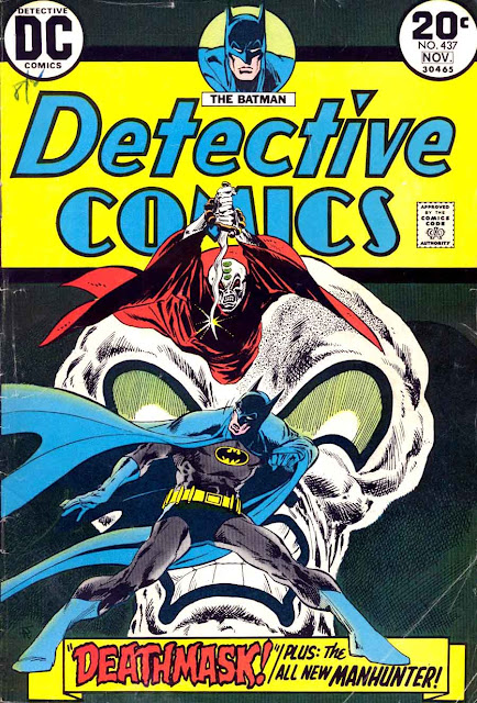 Detective Comics v1 #437, 1973 dc bronze age comic book cover - 1st Manhunter